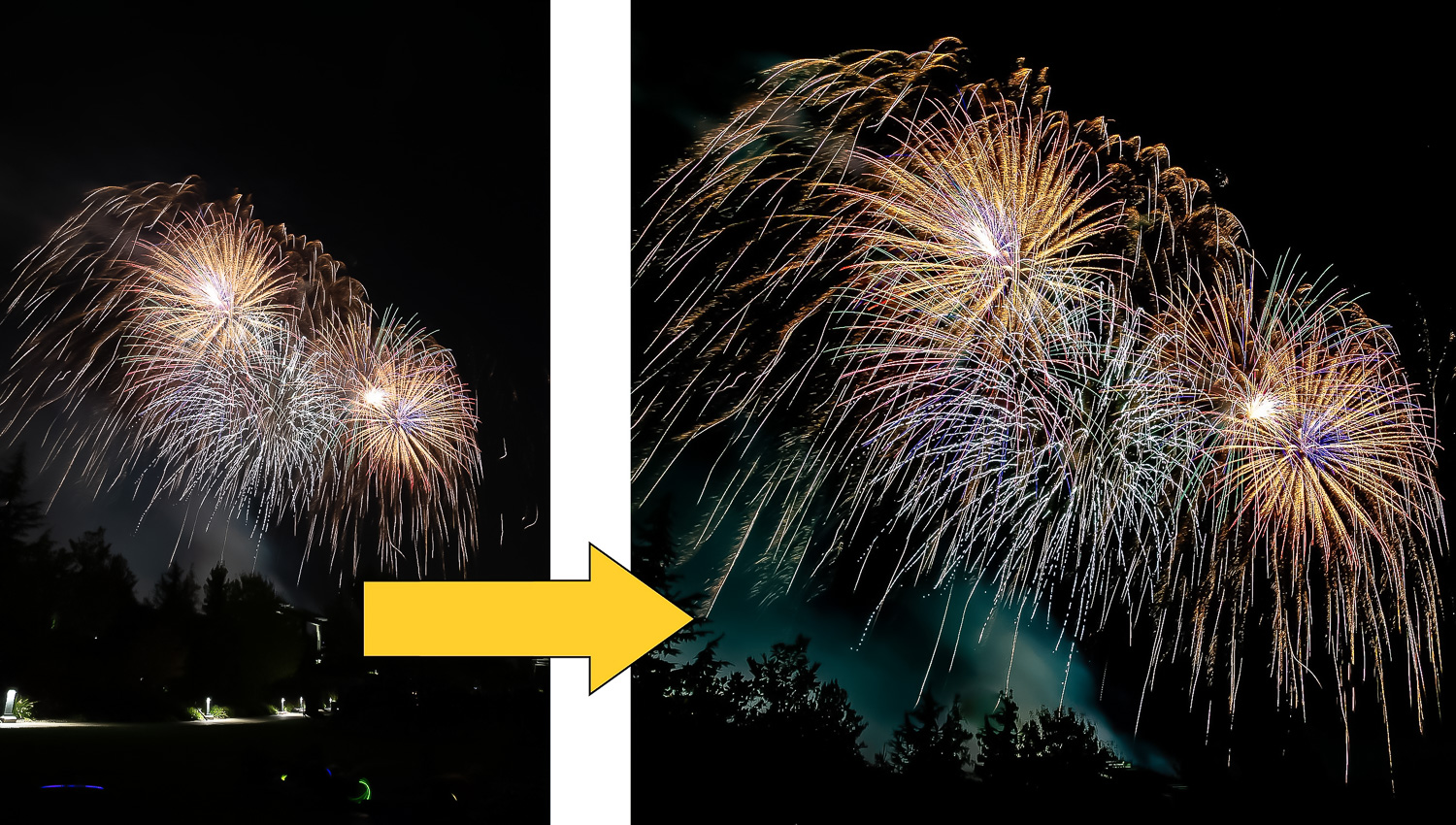 How to Edit Fireworks Photos Creatively