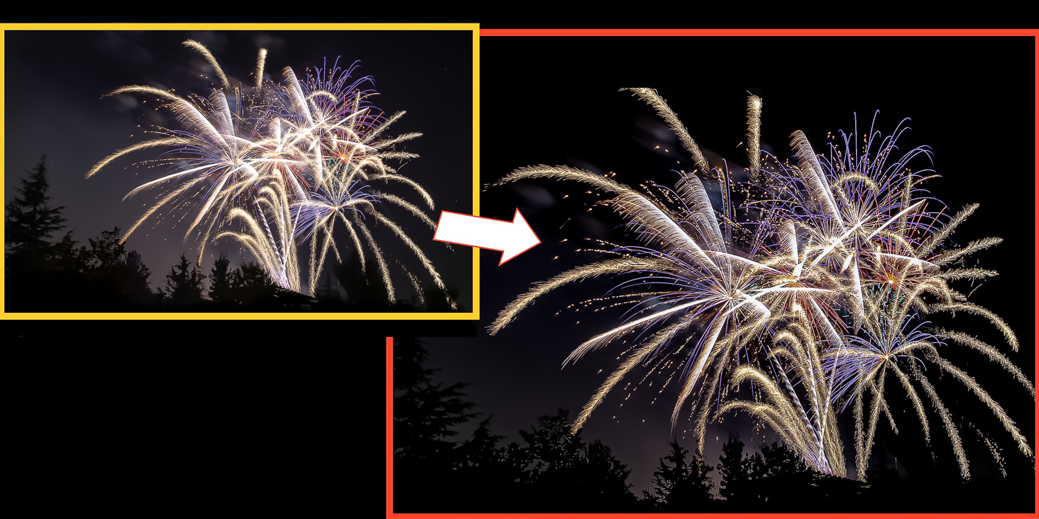 3 - How to Edit Fireworks Photos