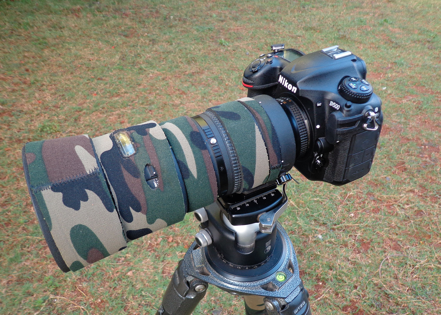 Image: Nikon D500 with the Nikon 80-200 f/2.8 lens mounted on Gitzo Tripod