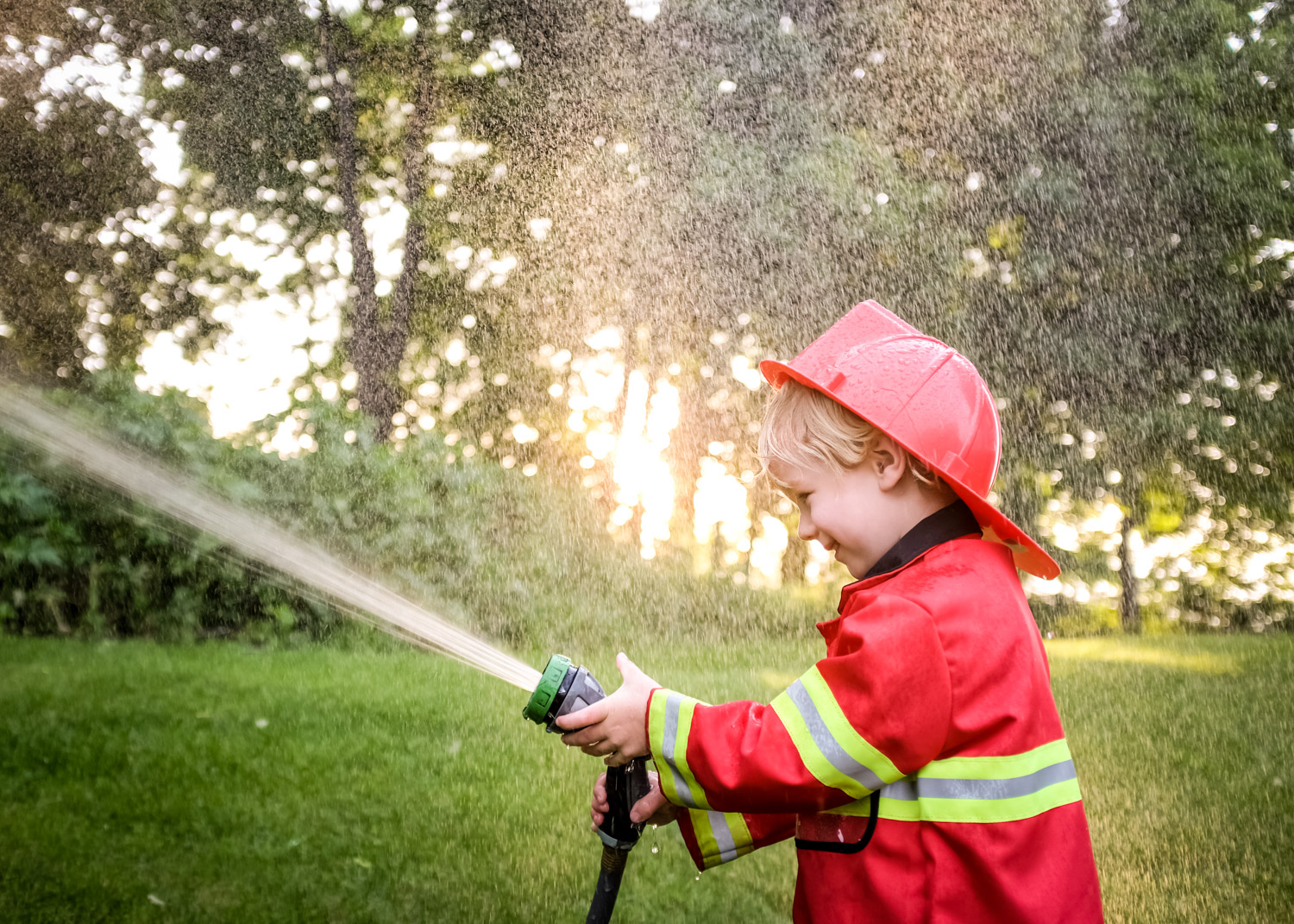 Fireman thsemed toddler photo session.
