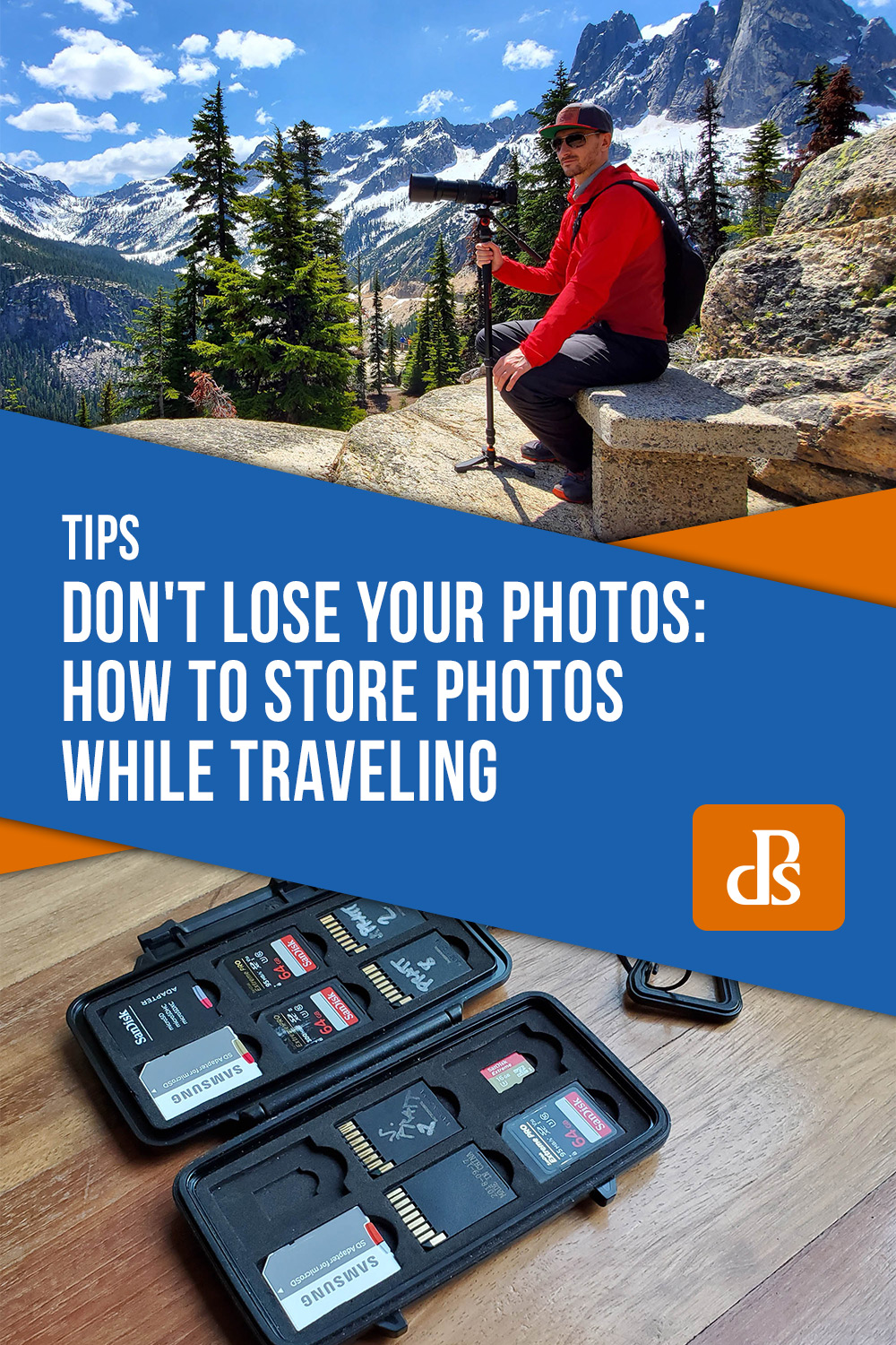 how to store photos while traveling