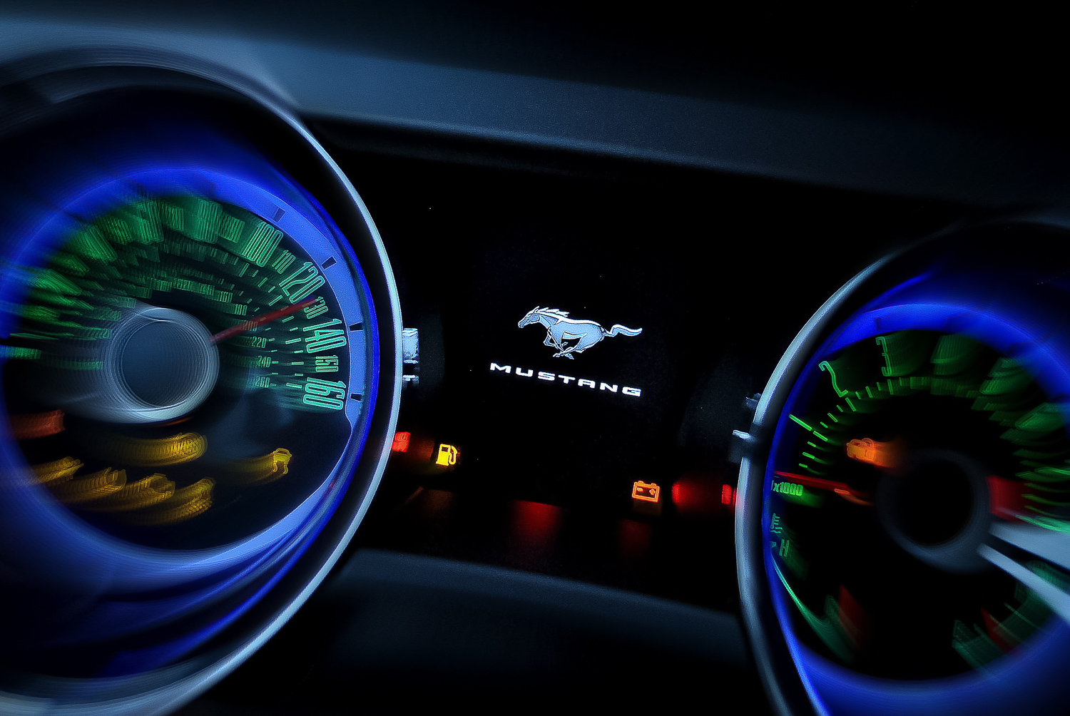 dashboard of mustang
