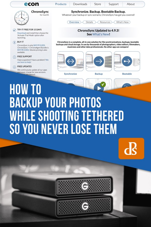 How to Backup Your Photos While Shooting Tethered so You Never Lose Them