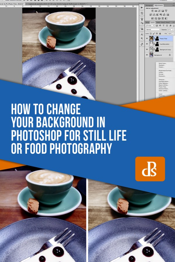 How to Change a Background in Photoshop for Still Life or Food Photography