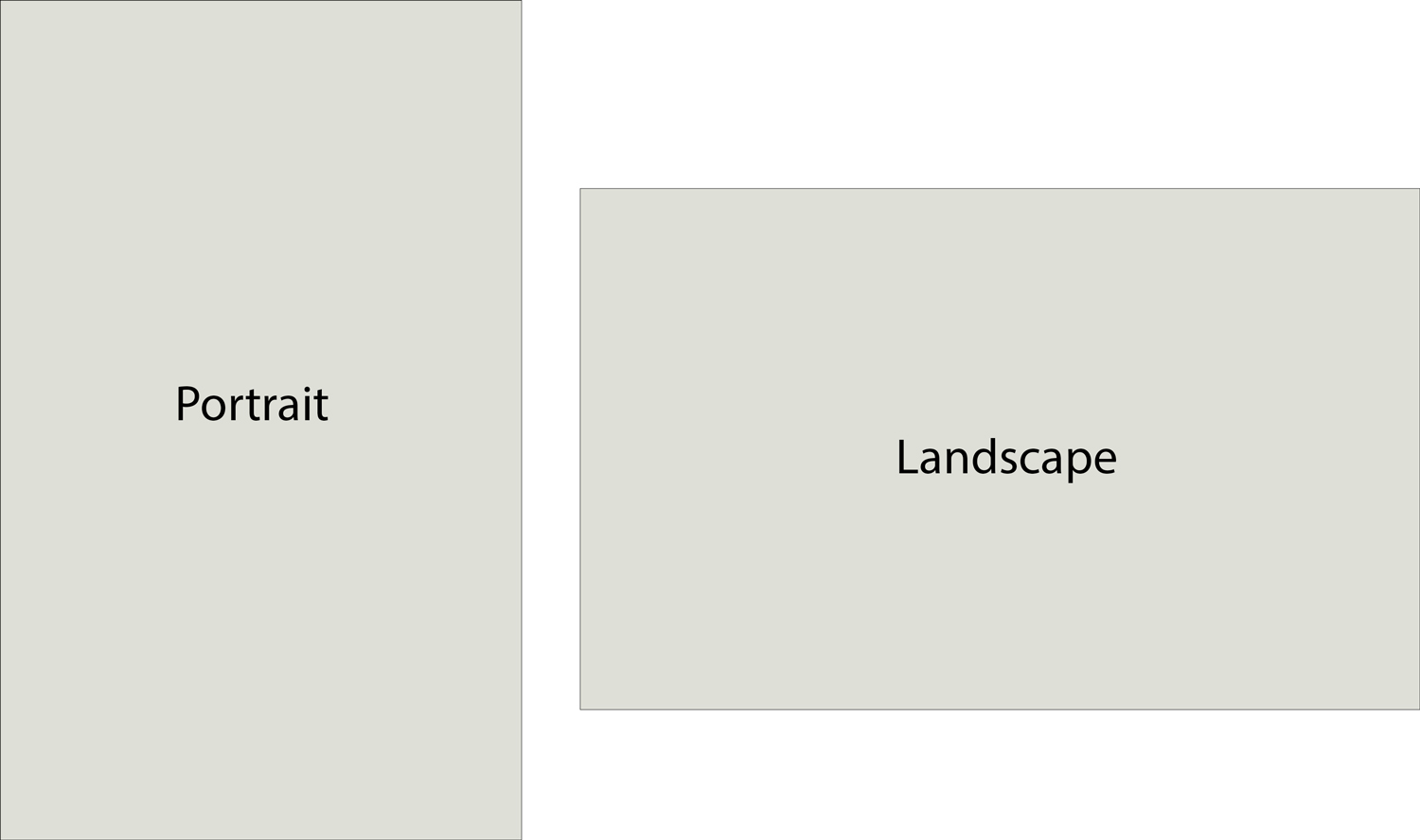 portrait and landscape orientation examples
