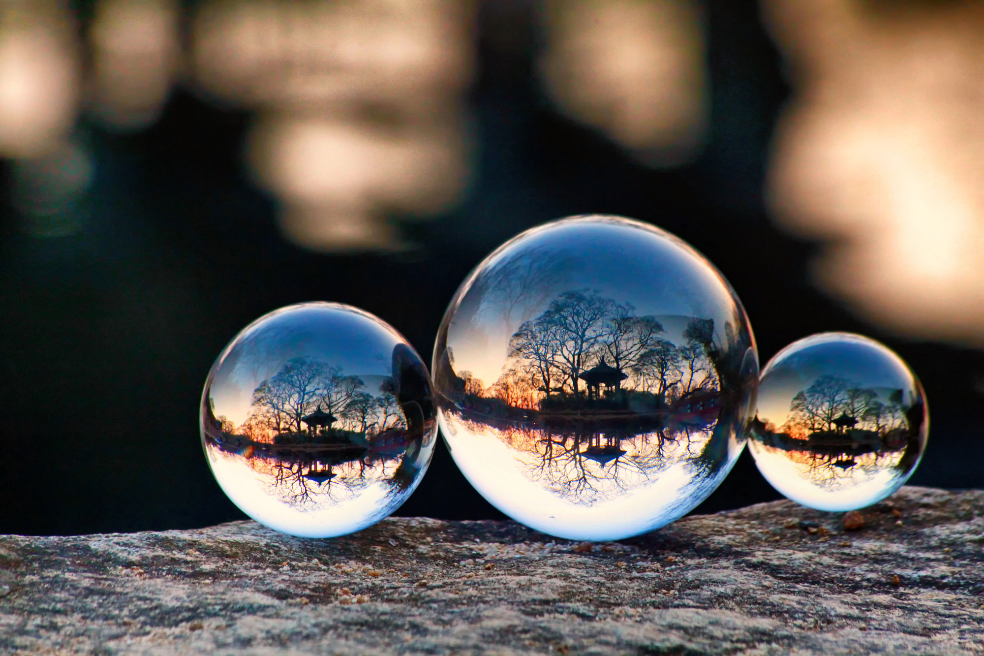 Image: Reflection works very well in lensball photography.