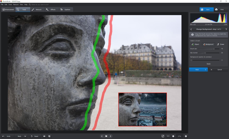 PhotoWorks - change background