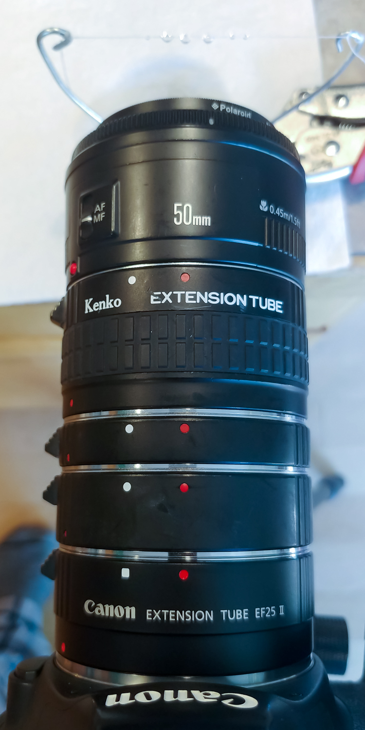 Image: Here all three Kenko extension tubes (Canon, Nikon, Sony), plus a Canon 25mm tube, are all co...