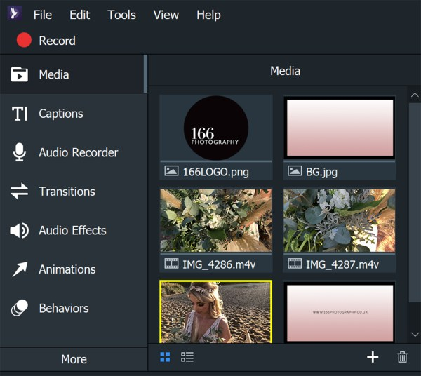 Image: Here is a variety of a png, JPEGs and HEVC iPhone footage. ACDSee Video Studio 4 handled them...
