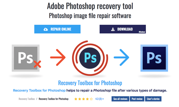 Recovery Toolbox for Photoshop: Rescue Your Damaged Adobe Photoshop Files