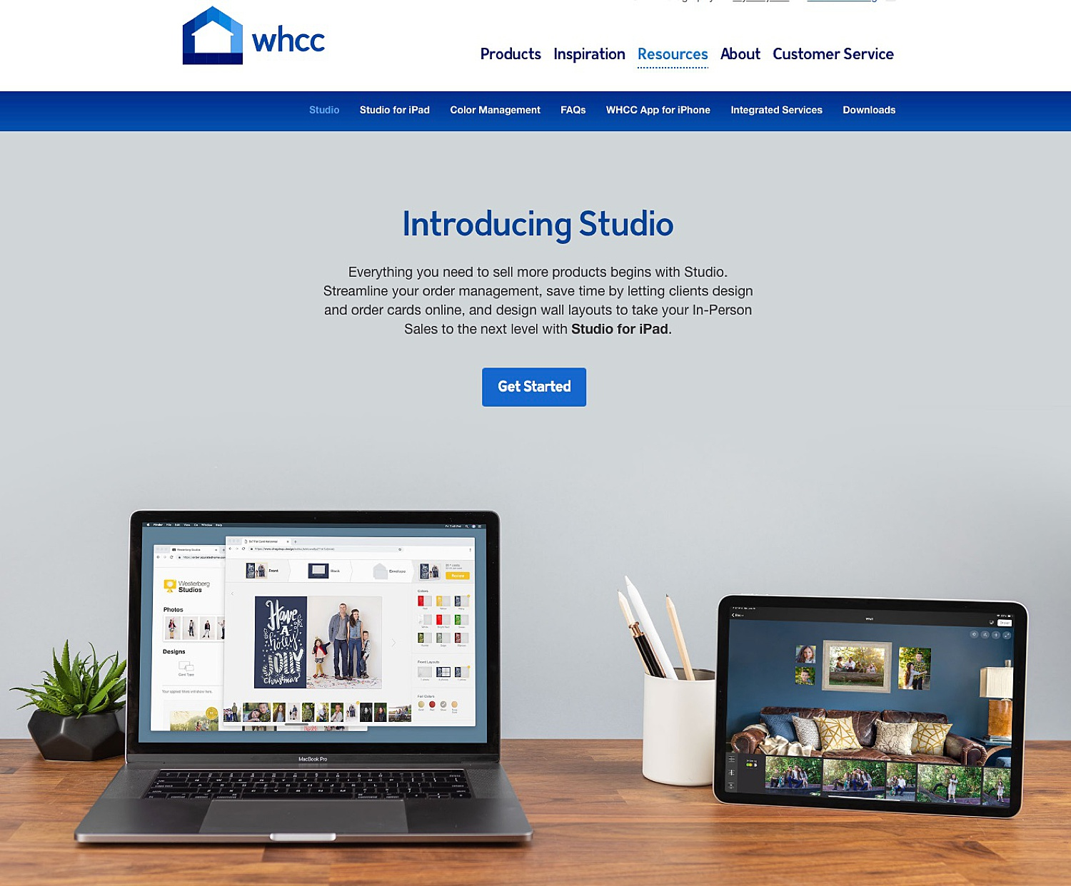 Image: WHCC offers a program you can use on your iPad called Studio to create mockups of products yo...