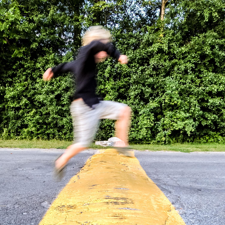 Slow shutter speed mtion blur.