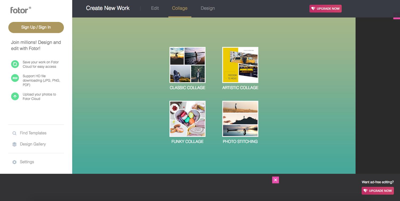 Collage, Montage, Design tools