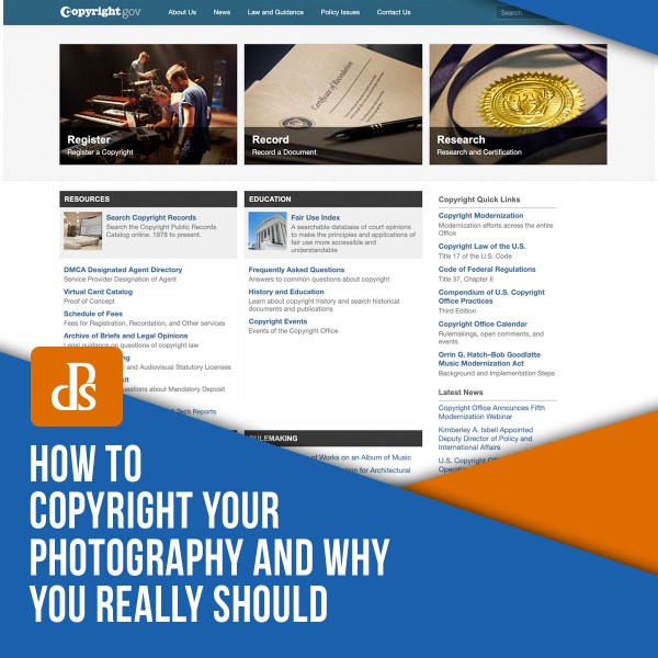 How to Copyright Your Photography and Why You Really Should