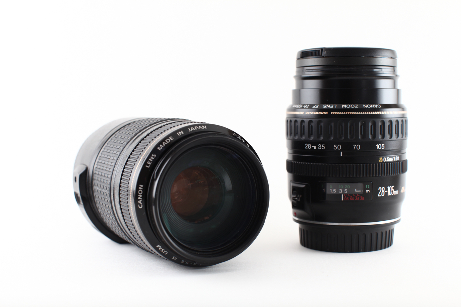 Image: A zoom lens can have it's focal length changed. Here you can see a 28-105mm lens and a...