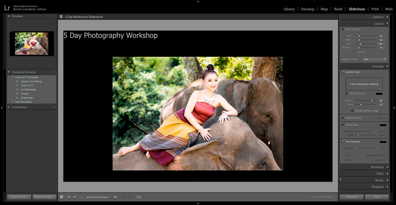 Using Lightroom To Create Slideshows overlays