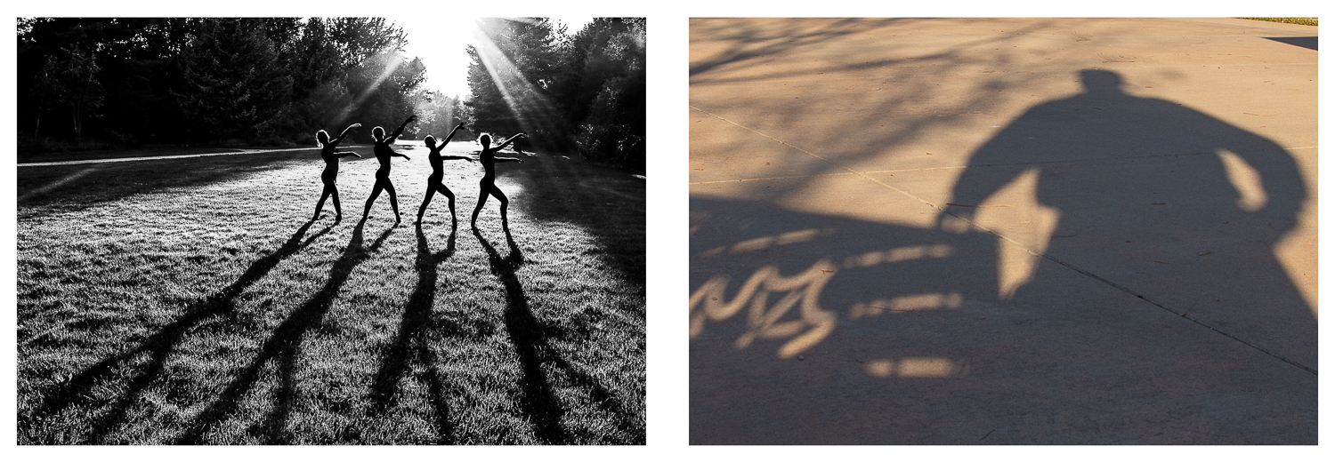 Image: In the image on the left, the shadows enhance the subjects. In the photo on the right, the sh...