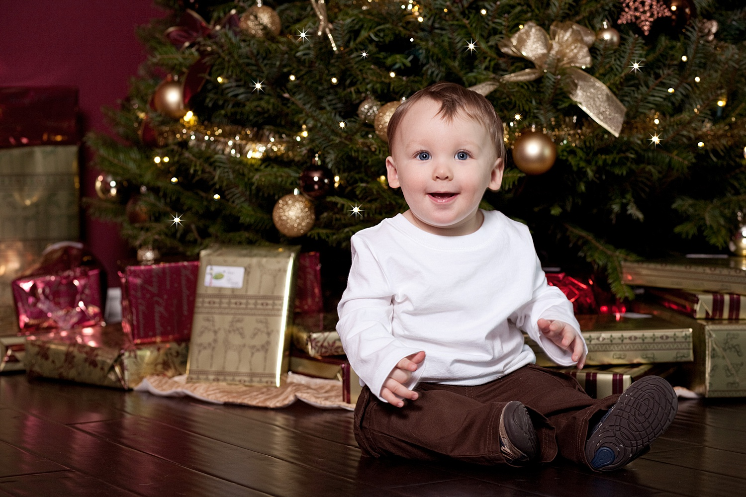 Image: Learn how to add twinkle lights to your holiday photo sessions in this article.