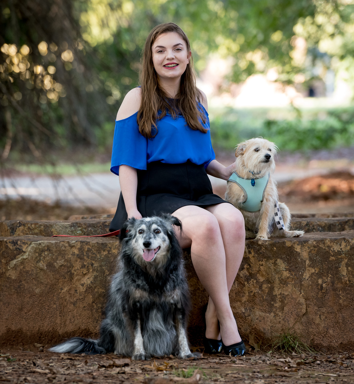 Image: This young woman wanted to bring her dogs to her senior photo shoot. It was a lot of fun! We...