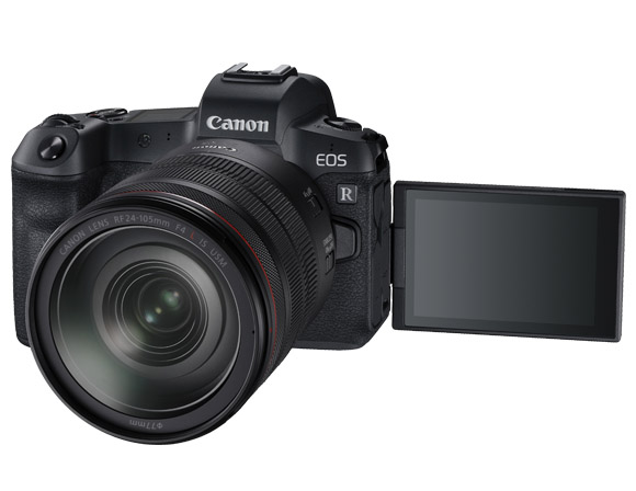 Image: The new Full-Frame Canon EOS R mirrorless camera from Canon (image from Canon promotional mat...