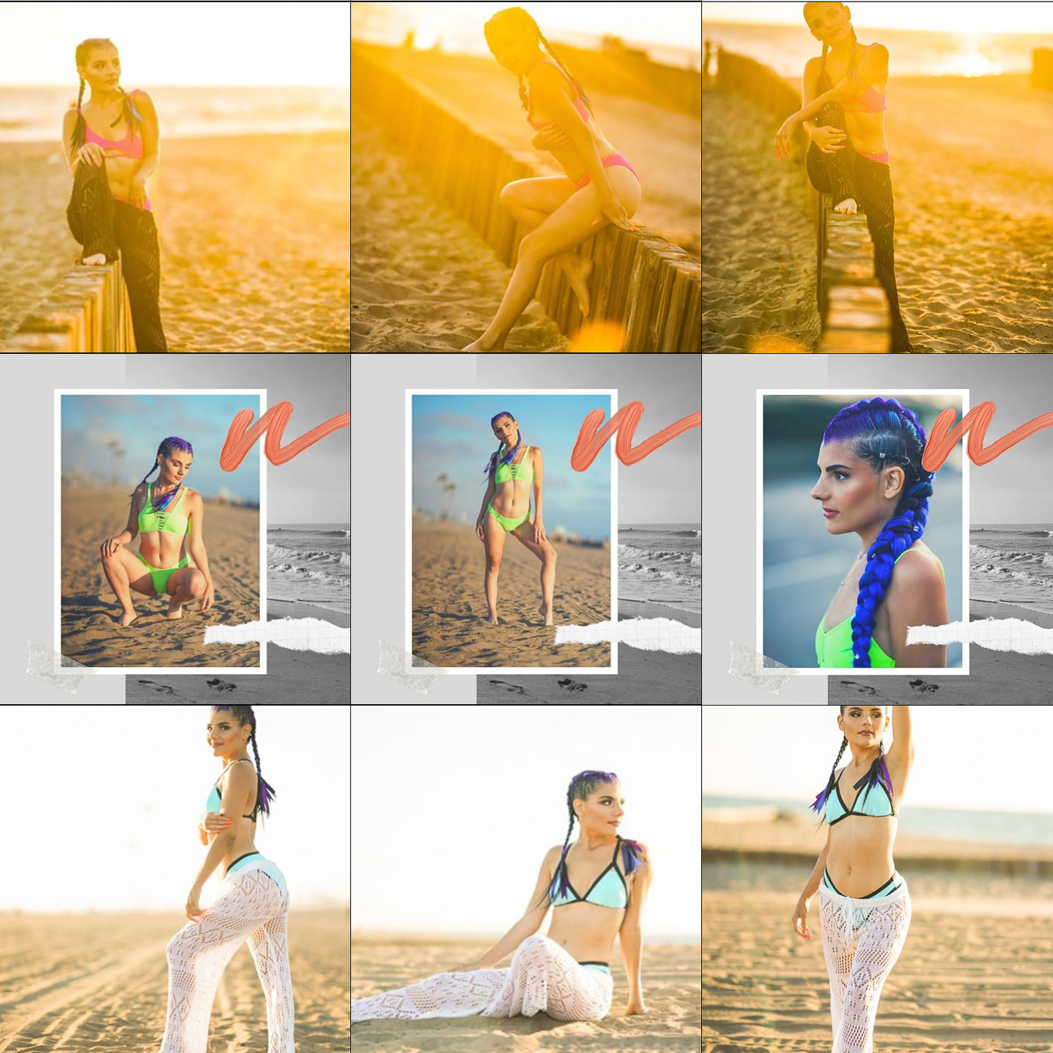 Image: This feed by singer Jessica Abari, shows unification in sets of 3 (with editing style and ima...