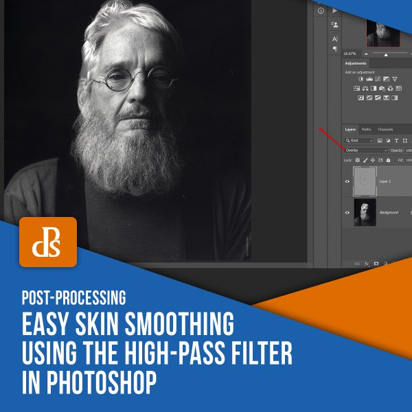 Easy Skin Smoothing Using the High-Pass Filter in Photoshop