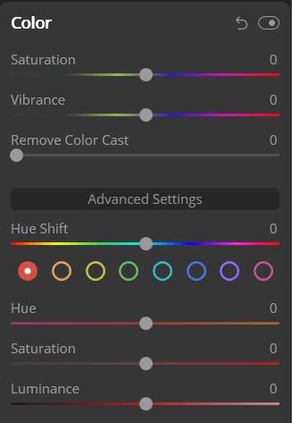 Luminar vs Lightroom Luminar color tool