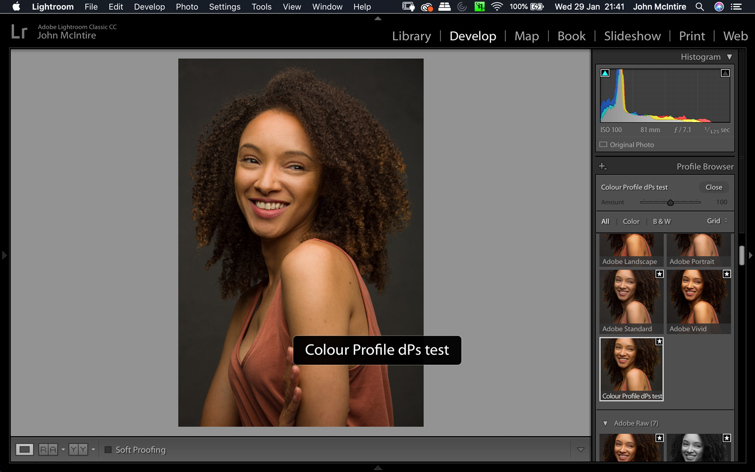 things to do to every photo in Lightroom - custom color profile