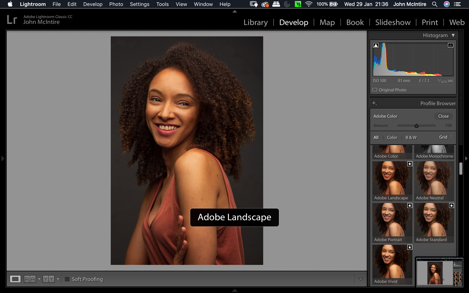 Image: As you can see, using the Landscape preset on a portrait is something you don't want to...