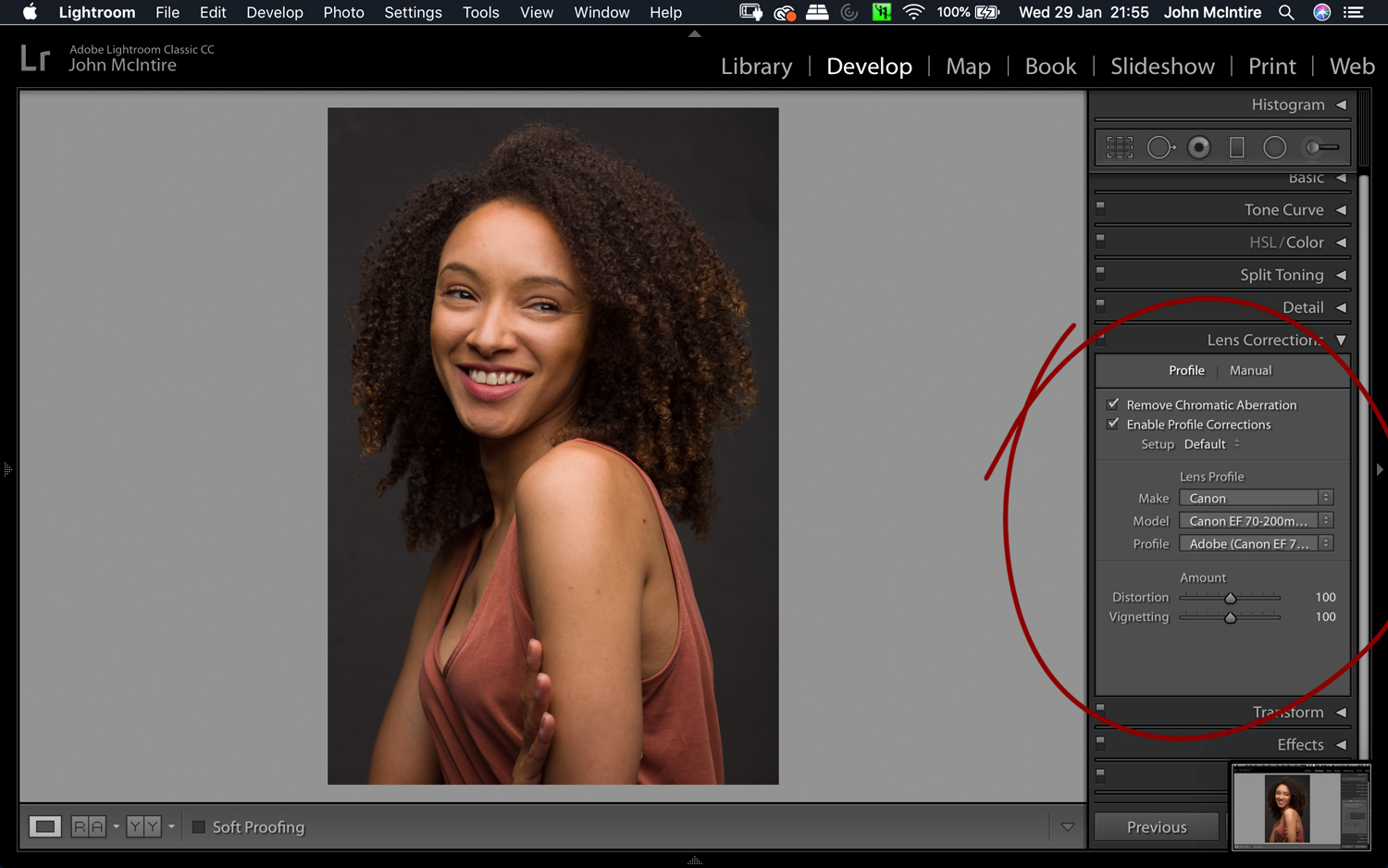 Things to do to every photo in Lightroom - Lens Corrections