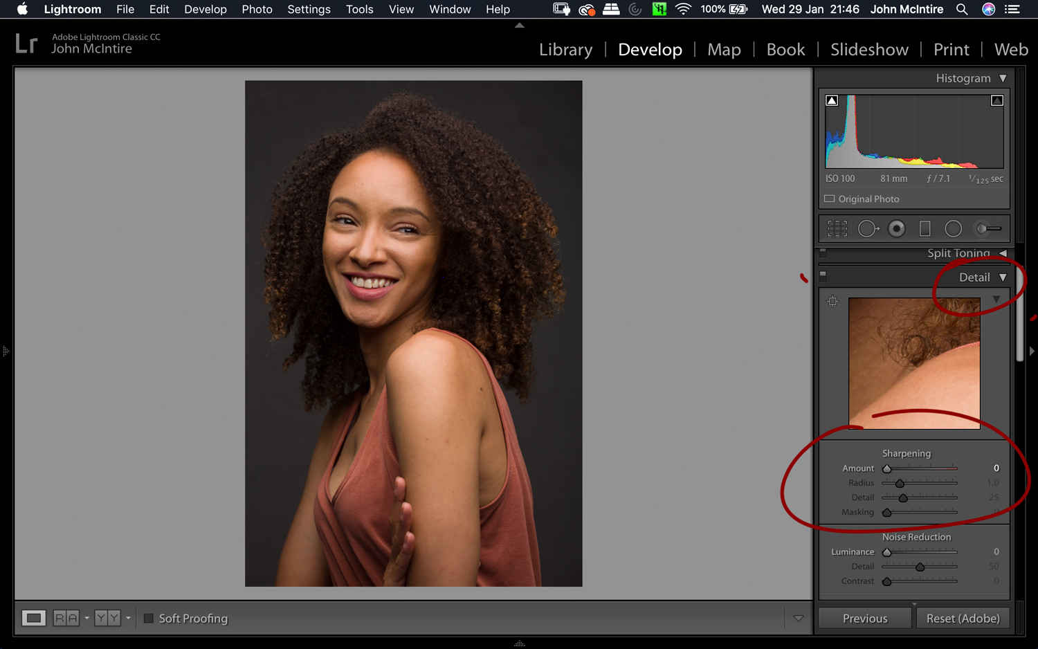 Things to do to every photo in Lightroom - Sharpness