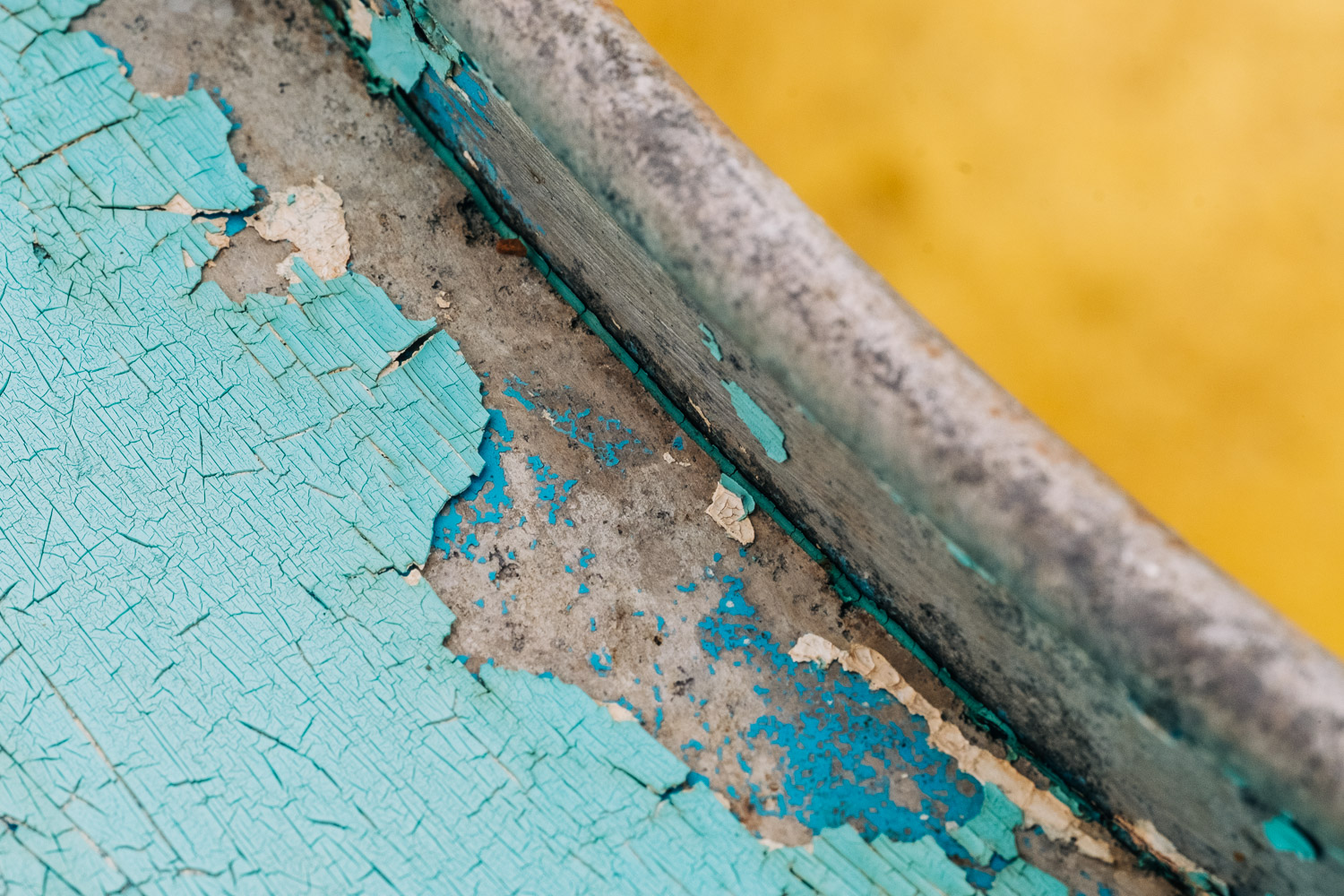 Image: Close up of the peeling paintwork on a boat. Even when shooting at f/16, you won't be able to...