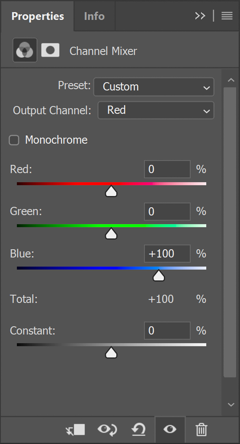 Red channel swap for Infrared photography in Photoshop