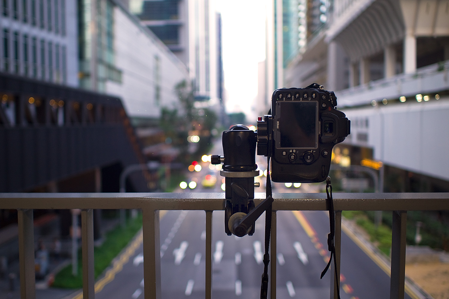 Image: Shooting from a footbridge is an easy way to get up above the moving cars. This is how I shot...