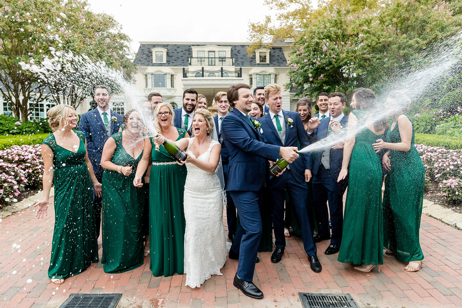 Canon Explorers of Light  – Q&A with Photographer Vanessa Joy. A wedding party celebrates with champagne.