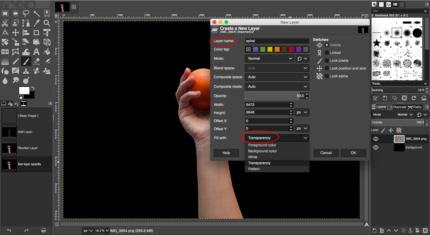 Add transparency layers