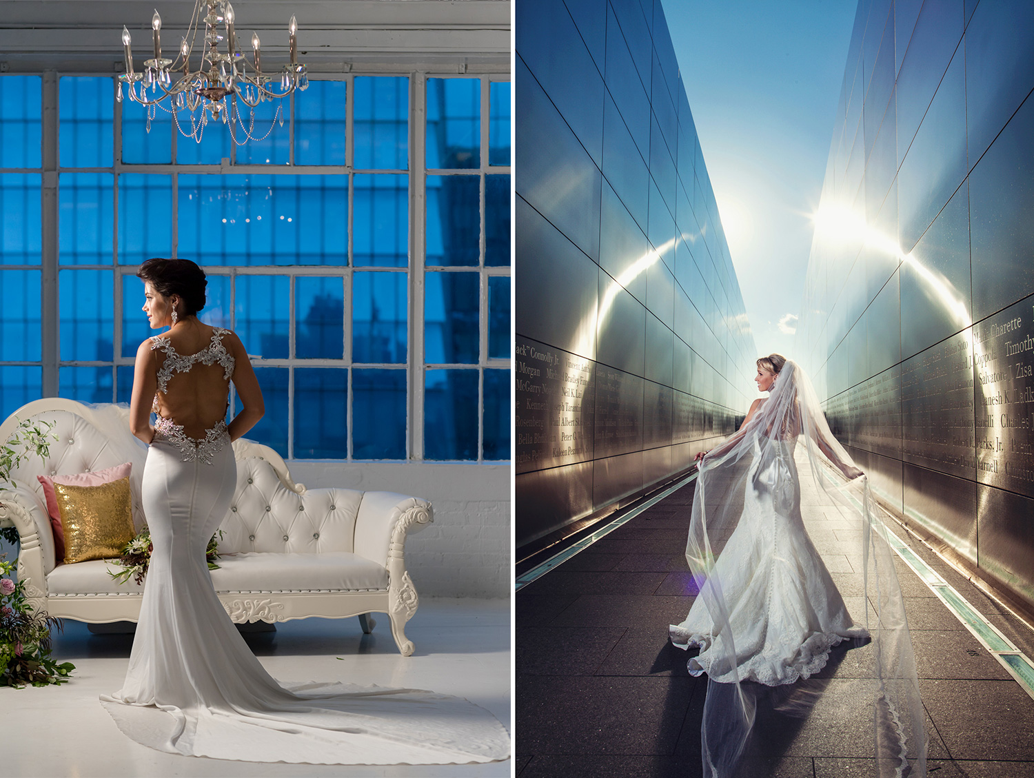 Canon Explorers of Light  – Q&A with Photographer Vanessa Joy. Two example wedding photos of brides.