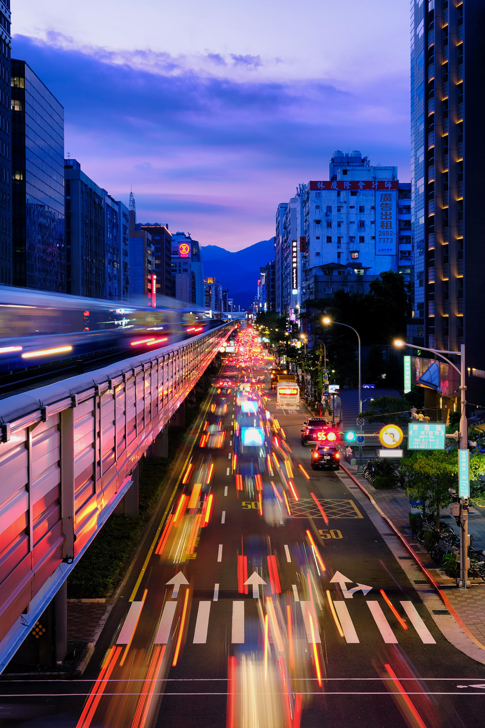 Taipei traffic trails by Matt Murray