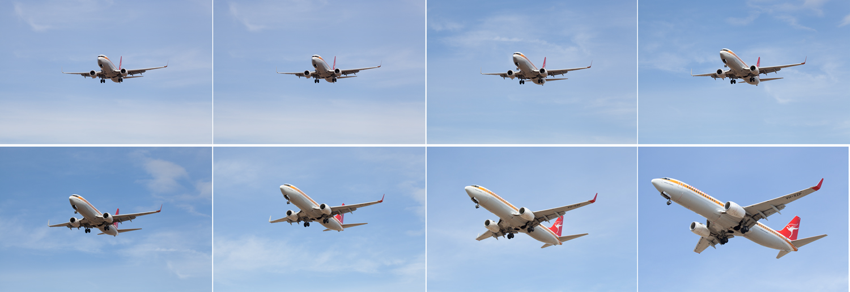 Fotografia burst 737