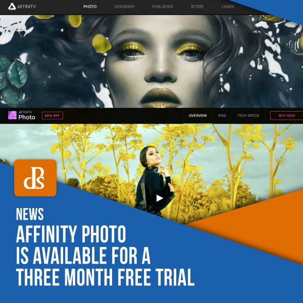 Affinity Photo is Available for a Three Month Free Trial