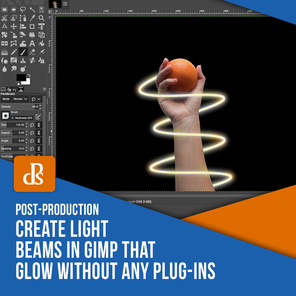 Create Light Beams in GIMP that Glow Without Any Plug-ins