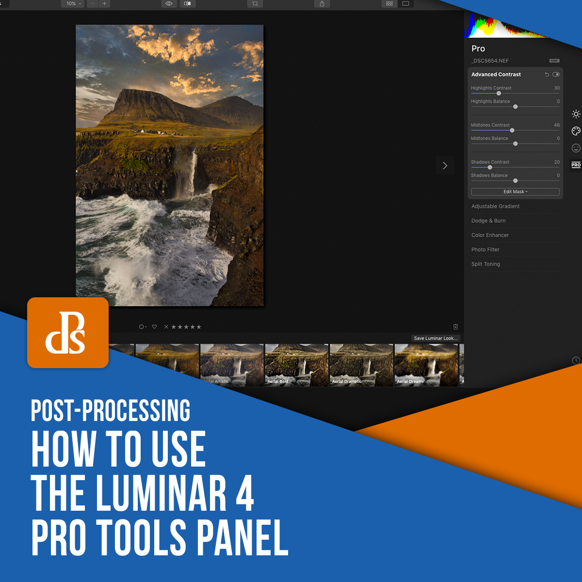 How to Use the Luminar 4 Pro Tools Panel