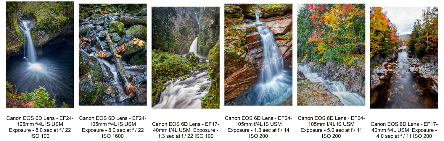 Use a slower shutter speed for silky water effects.