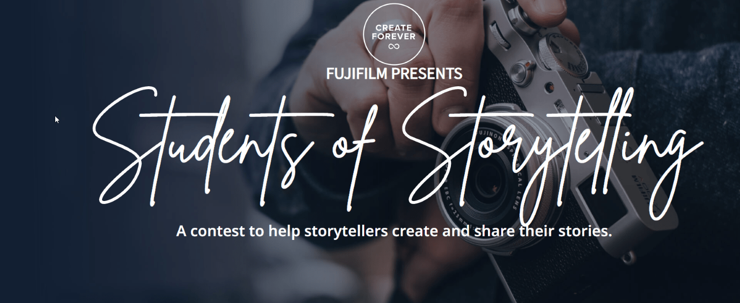 students of storytelling contest page