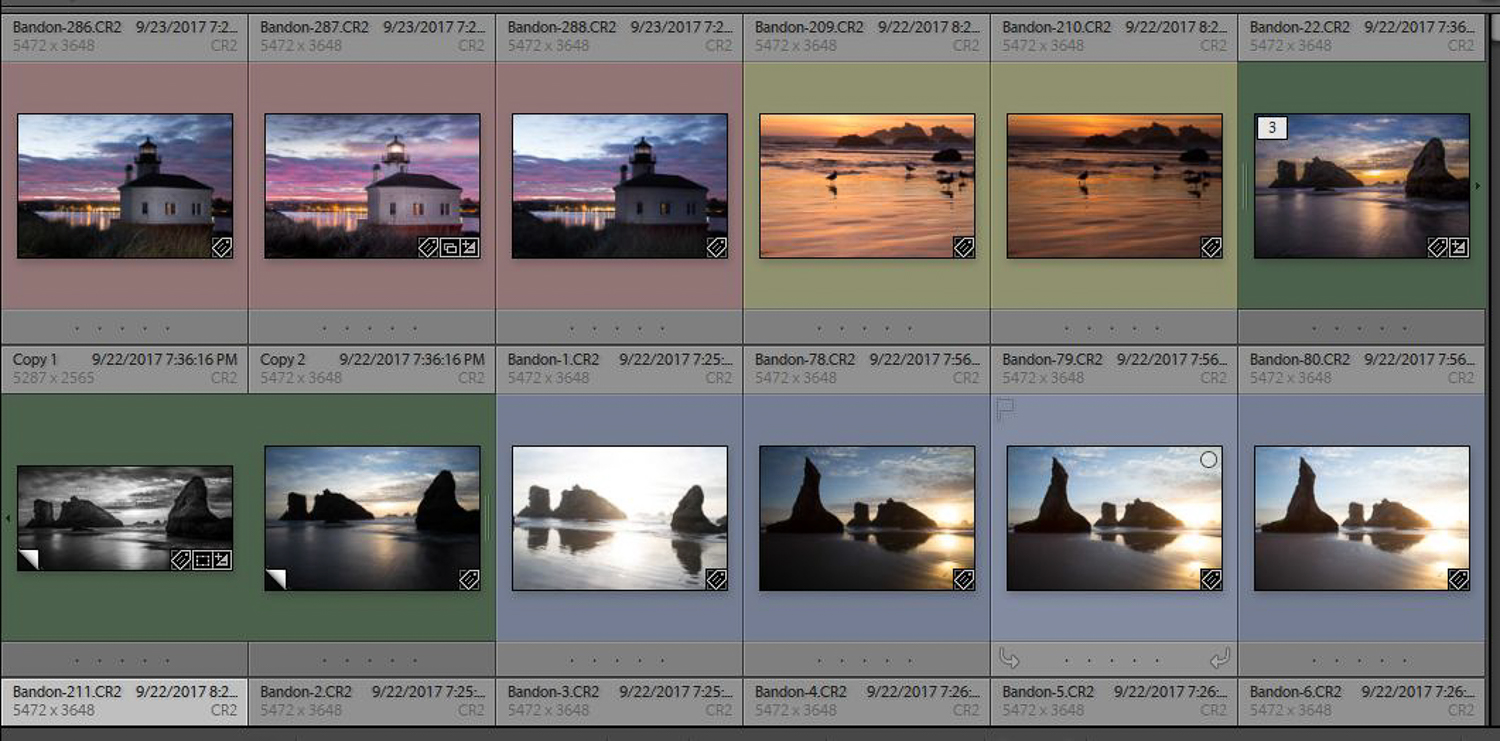 Finding photos with Lightroom - Sort by Color