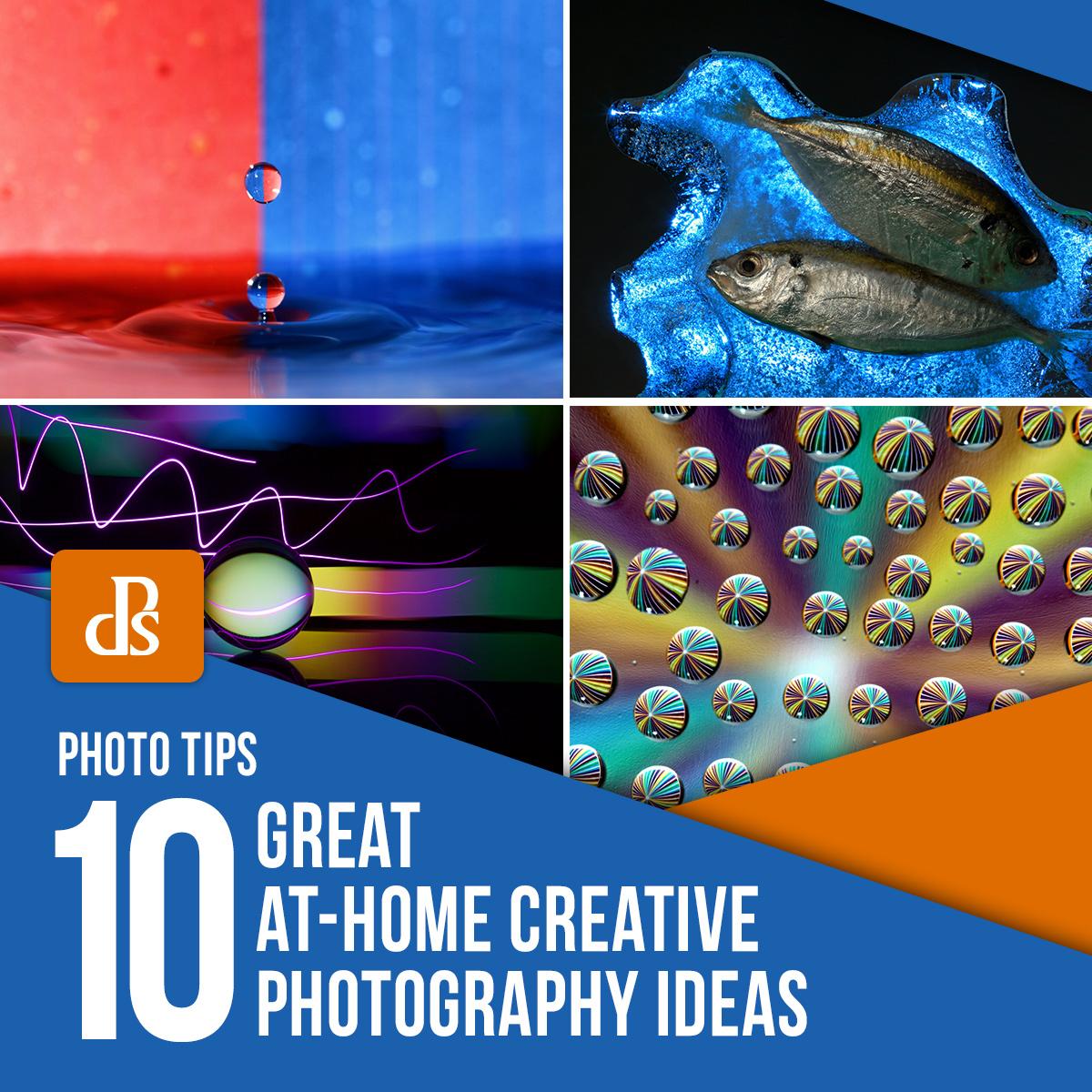 idéias criativas de fotografia em casa