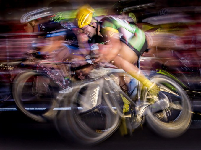 Flash action photos - illustrating he fast and furious of cycle racing with second curtain sync flash.