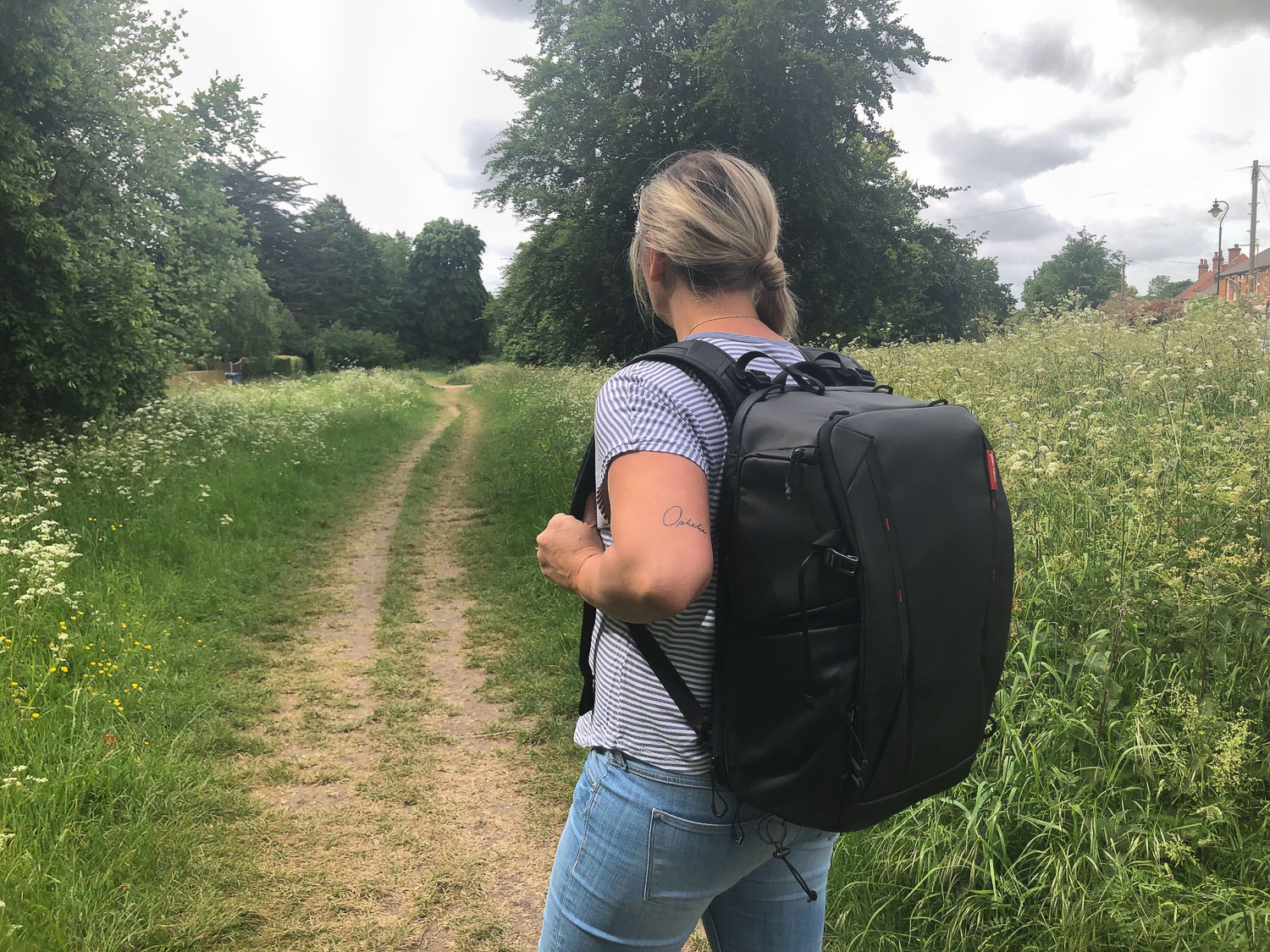 Onemo 25L Backpack being worn
