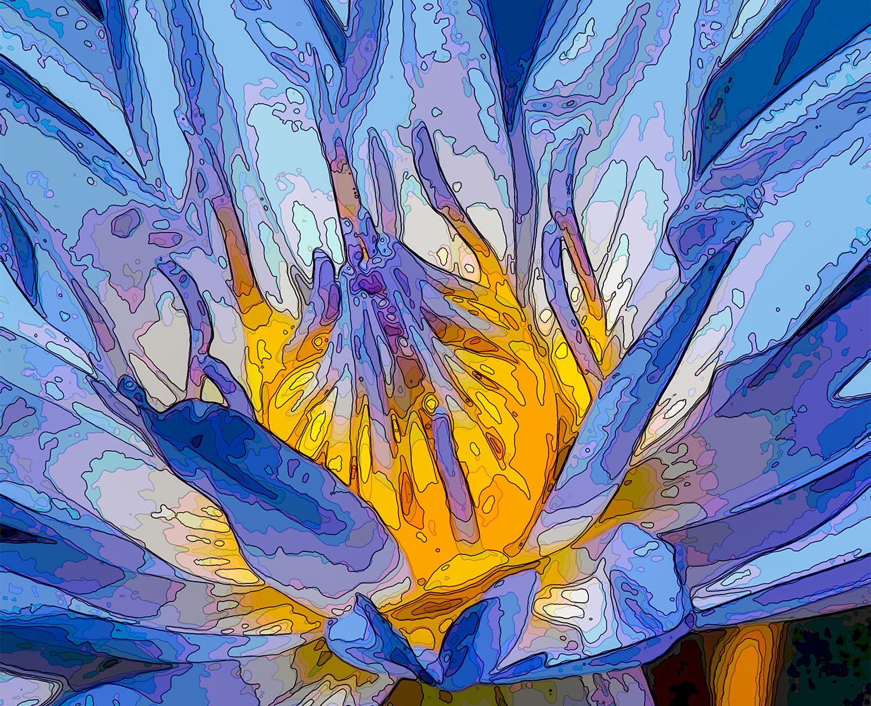 Fluxo de trabalho de fotografia de flor roxa - coroa - flor