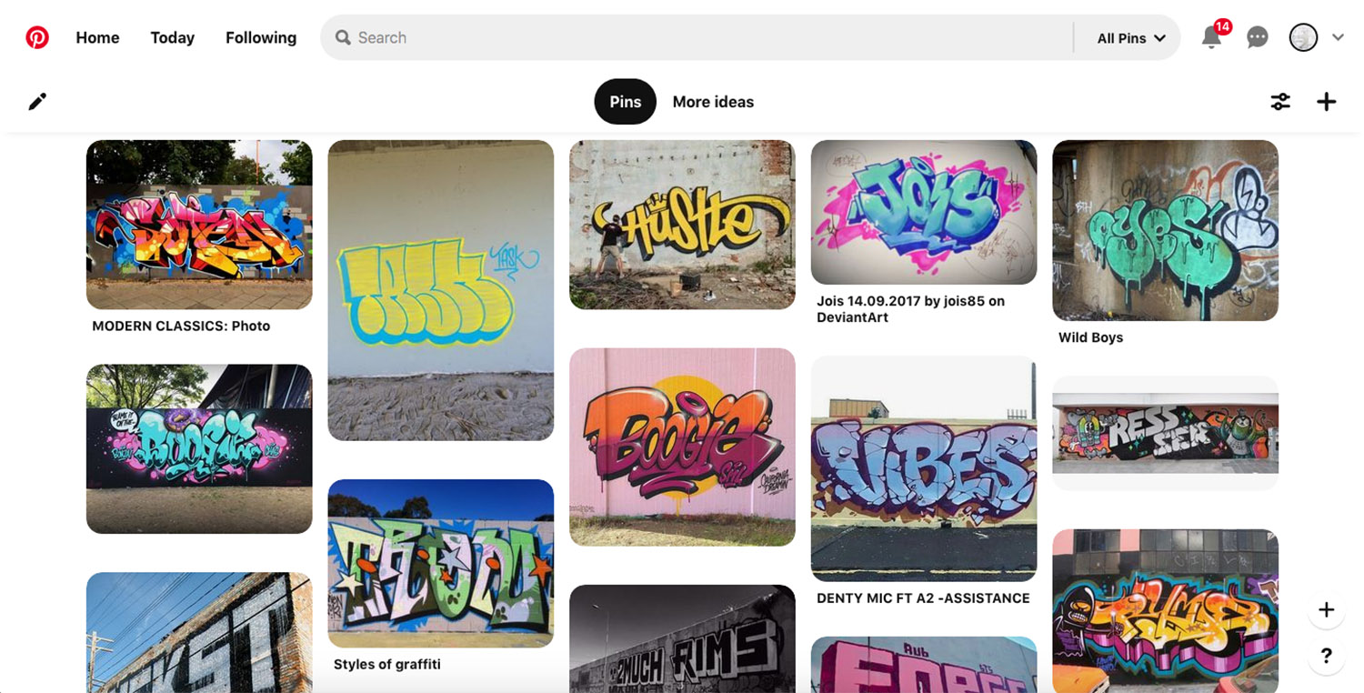 Pinterest gallery for visual reference